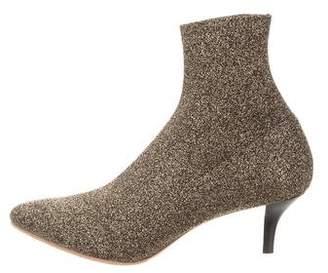 Loeffler Randall Metallic Glitter Ankle Boots
