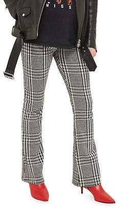 Topshop MATERNITY Checked Flare Trousers
