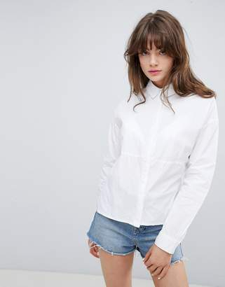 NATIVE YOUTH Paneled Side Split Shirt