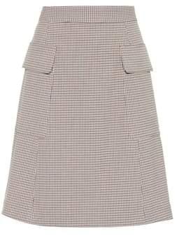 See by Chloe Plaid miniskirt