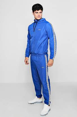 boohoo Shell Tracksuit With MAN Box Tape