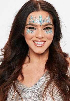 Missguided The Gypsy Shrine Blue Snow Queen Face Jewel