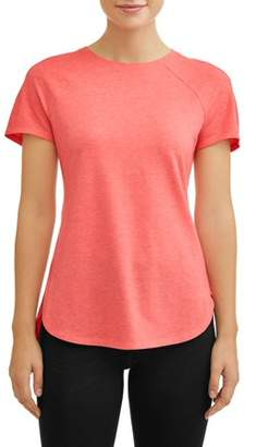 Avia Women's Core Active Short Sleeve Tunic Length Performance T-Shirt