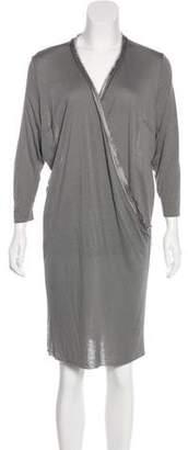 CNC Costume National Draped Knee-Length Dress