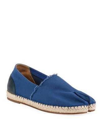 Maison Margiela Men's Tabi Split-Toe Canvas Espadrilles