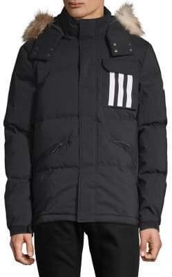 adidas Faux-Fur-Trimmed Puffer Jacket