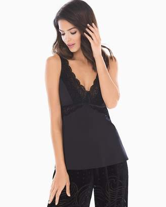 Limited Edition Velvet Noir Flocked Sleep Cami