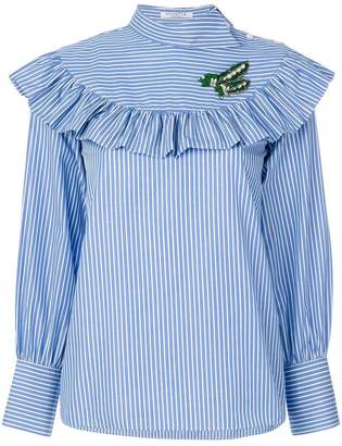 Vivetta striped ruffled blouse