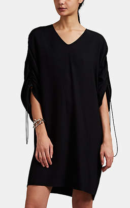 Maison Margiela Women's Crepe Drawstring Shift T-Shirt Dress - Black