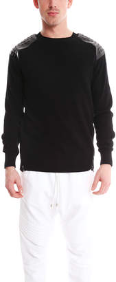 Pierre Balmain Zip Detail Studded Sweater