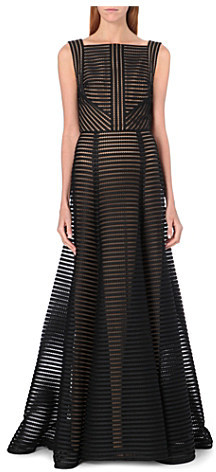 Elie Saab Sheer stripe long-length gown