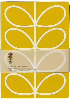 Orla Kiely A5 Classic Yellow Stem Notebook