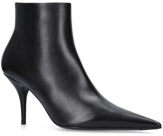 Balenciaga Leather Knife Ankle Boots 80