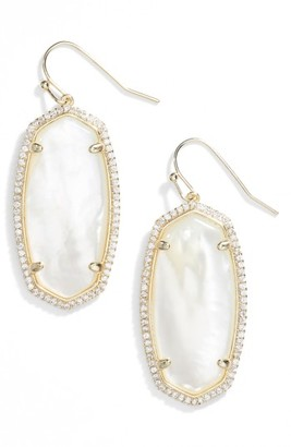Women's Kendra Scott Elle Pave Drop Earrings $85 thestylecure.com