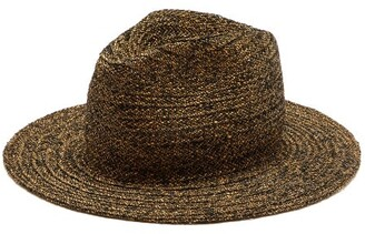Reinhard Plank Hats - Norma Straw Fedora Hat - Womens - Black