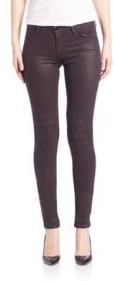 Brockenbow Al Rush Knee Embroidery Skinny Eggplant Emma Jeans