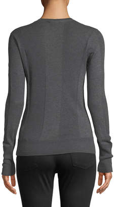 James Perse Ribbed Long-Sleeve Cotton Tee