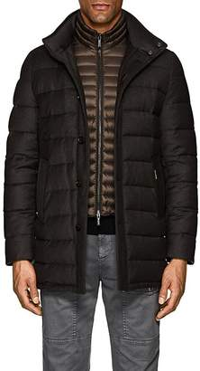 Moorer Men's Down-Quilted Wool-Cashmere Coat