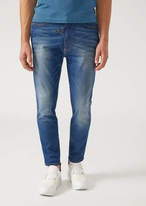 Emporio Armani J01 Regular-Fit Stretch Cotton Denim Jeans