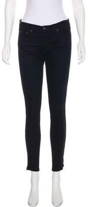 Rag & Bone Zipper Embellished Mid-Rise Jeans