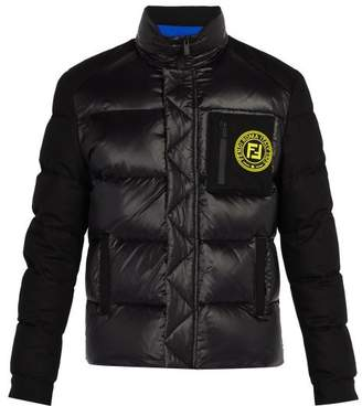 Fendi Logo Patch Puffer Jacket - Mens - Black