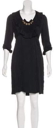 Mayle Silk Damask Dress