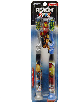 Reach Children's Marvel Kids Toothbrush With Suction Cup Soft, 2 Pack