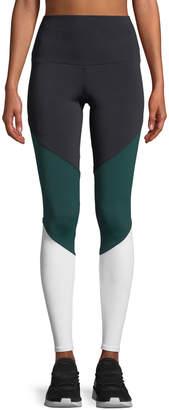 Onzie High-Rise Colorblock Track Performance Leggings