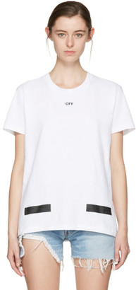 Off-White SSENSE Exclusive White Diagonal Tulips T-Shirt $315 thestylecure.com