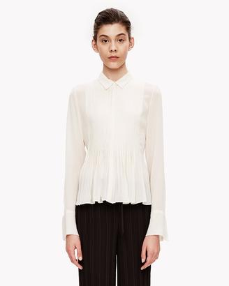Silk Chiffon Pleated Shirt $295 thestylecure.com