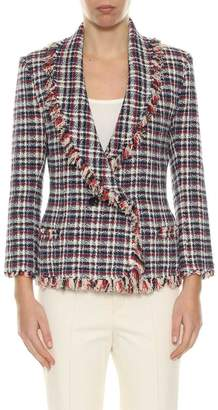 Etoile Isabel Marant Multicolor Tweed 'veste' Double Breasted Blazer With Shawl Collar From