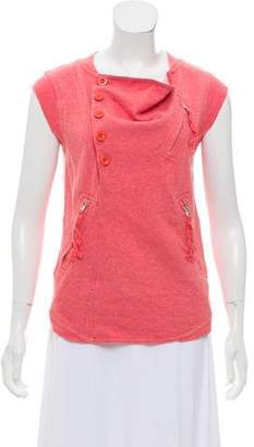 Marc by Marc Jacobs Sleeveless Zip-Accented Top