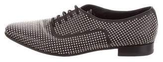 Saint Laurent Embellished Lace-Tie Oxfords