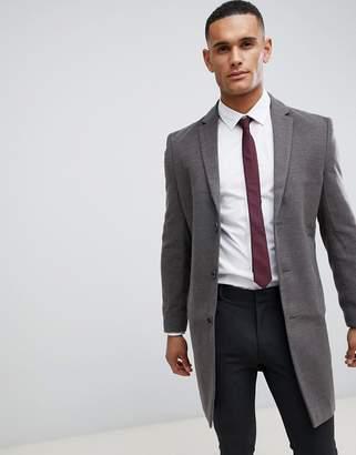 New Look smart overcoat in gray