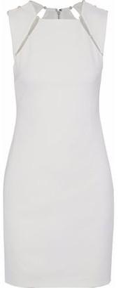 Alice + Olivia Kristiana Faux Pearl-Embellished Crepe Mini Dress