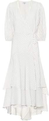 Ganni Wilke silk and cotton midi dress
