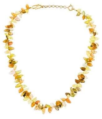 Julius Cohen 18K Tourmaline Collar Necklace
