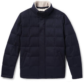 Loro Piana Storm System Quilted Cashmere And Cotton-Blend Down Jacket
