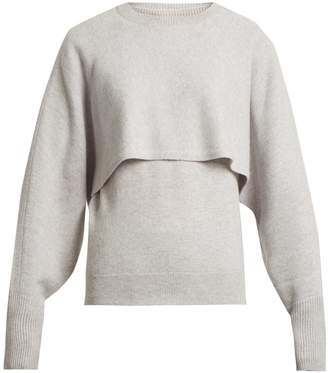 Chloé Layer crew-neck cashmere sweater