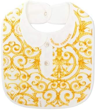 Versace baroque patterned bib