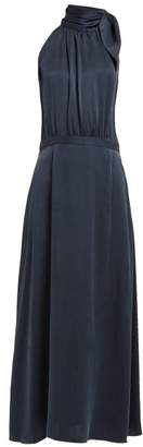 Zimmermann Tie Neck Silk Dress - Womens - Navy
