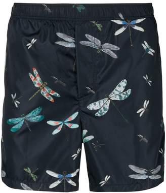 Valentino Dragonfly print swim shorts