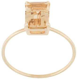 Natalie Marie 9kt yellow gold champagne quartz ring