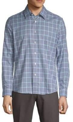 Hyden Yoo Plaid Cotton Button-Down Shirt