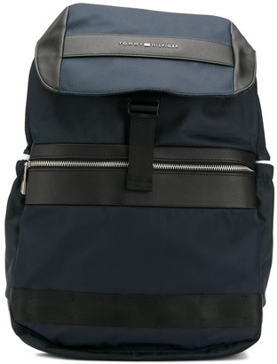 Tommy Hilfiger textile flap backpack