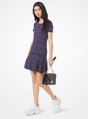4251ca8062527 Michael Kors Studded Stretch-Viscose Flare Dress