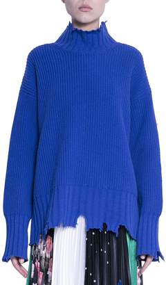 MSGM Destroyed Wool Sweater