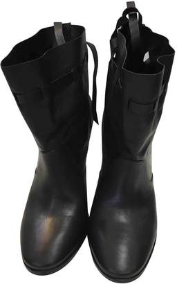 Hermes Black Leather Ankle boots