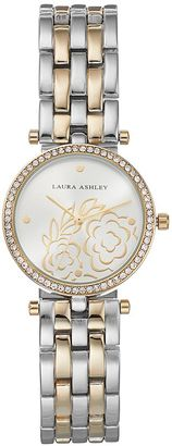 Laura Ashley Women's Crystal Floral Watch $395 thestylecure.com
