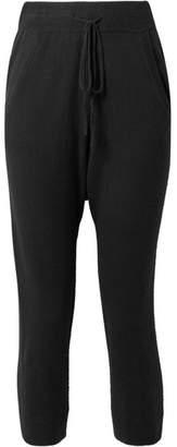 Nili Lotan Janina Cropped Cashmere Track Pants - Black